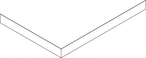 Polysan KARIA, VARESA 90x80 rohový panel, výška 11 cm, pravý 63812R