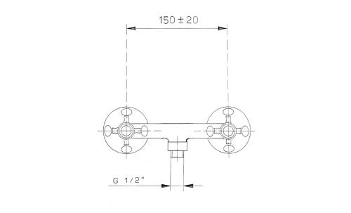 Reitano Rubinetteria ANTEA nástěnná sprchová baterie, nikl 3868