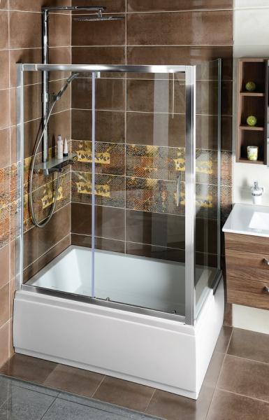 Polysan DEEP sprchové dveře posuvné 1400x1500mm, čiré sklo MD1415