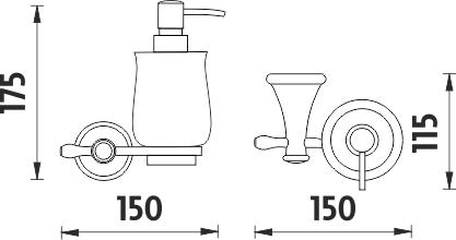 Nimco Lada Dávkovač tekutého mýdla LA 19031K-65