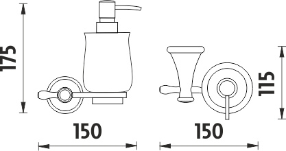 Nimco Lada staromosaz Dávkovač tekutého mýdla, pumpička plast LA 19031K-65