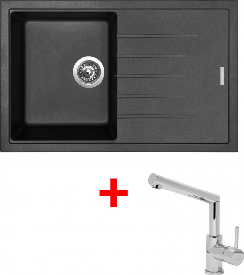Granitový dřez Sinks BEST 780 Metalblack+MIX 350P ACRB78074M350P