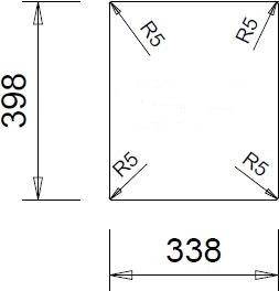 Granitový dřez Sinks CUBE 410 Sahara TLCU41050050