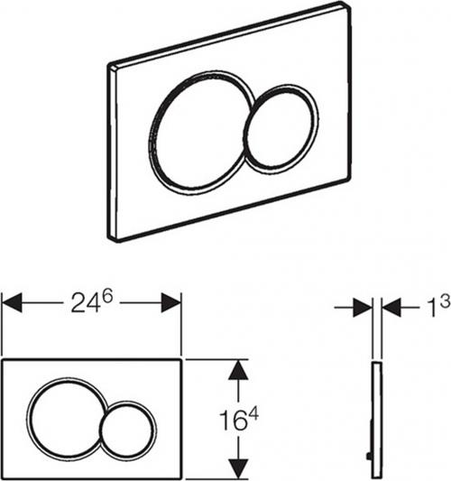 Geberit GEBERIT SIGMA01 ovládací tlačítko, pro 2 množství splachování, chrom mat 115.770.46.5