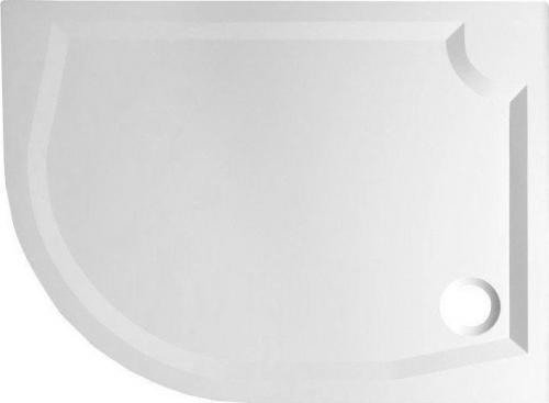 Gelco RIVA sprchová vanička z litého mramoru, čtvrtkruh 100x80cm, pravá GR10080R