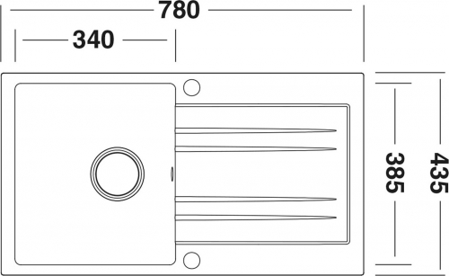 Granitový dřez Sinks RAPID 780 Granblack SIGRA78043530
