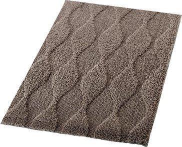 Ridder ORIENT předložka 55x50cm s protiskluzem, polyester, tmavě hnědá 724808