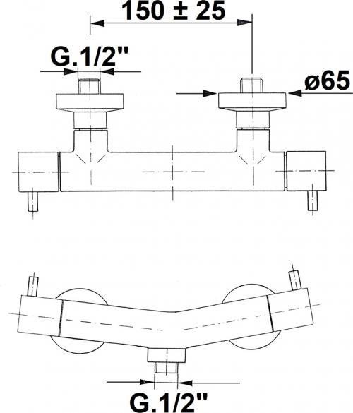Reitano Rubinetteria AIRTECH nástěnná sprchová baterie, chrom 486