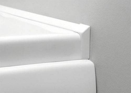 Polysan Krycí lišta okolo vany 2x195cm, 2x roh, 2x ukončení 91020