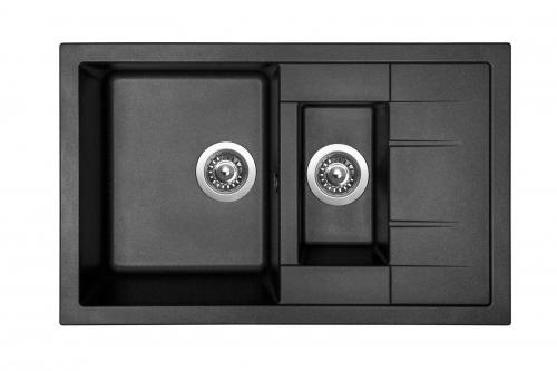 Granitový dřez Sinks CRYSTAL 780.1 Metalblack ACRCR780500174