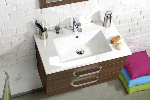 Sapho SLIM keramické umyvadlo 76, 5x46cm, nábytkové 1601-75
