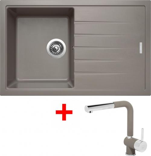 Granitový dřez Sinks BEST 780 Truffle+MIX 3P GR ACRB780M3P54
