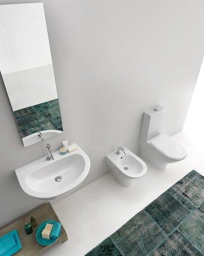 Kerasan AQUATECH WC kombi mísa 36, 5x42x65cm, spodní/zadní odpad 371701