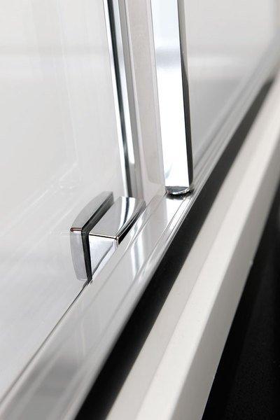Polysan LUCIS LINE čtvrtkruhová sprchová zástěna, 1000x1000mm, R550, čiré sklo DL3015
