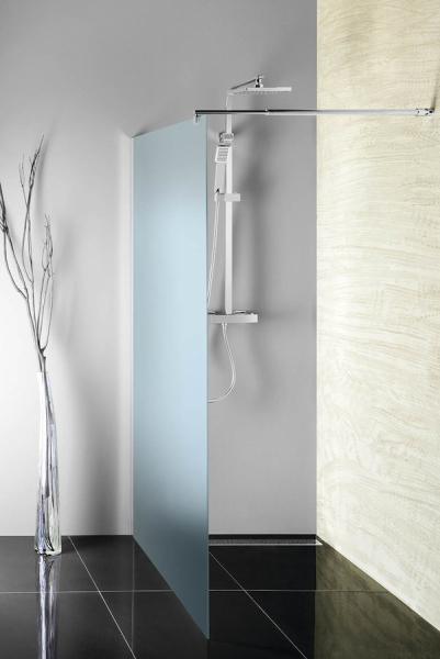 Aqualine WALK-IN zástěna jednodílná k instalaci na zeď, 800x1900 mm WI080