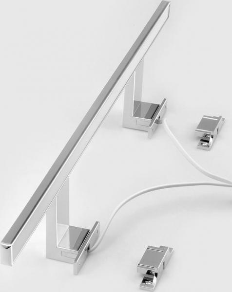 Aqualine SERAPA LED svítidlo 9W, 230V, 600x40x100mm, hliník, chrom SA148