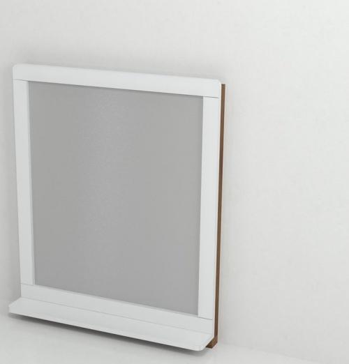 Sapho PRIM zrcadlo s policí 70x84x14cm, buk/bílá PM005