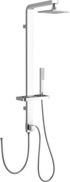 Aqualine SIGA sprchový sloup k napojení na baterii, výška 1090mm, hliník SL650