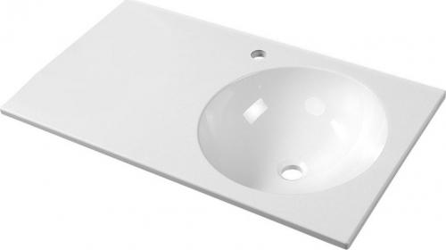 Sapho JUNO umyvadlo 80x15x47cm, litý mramor, bílá, pravé JU081