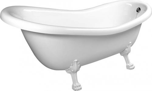 Polysan RETRO volně stojící vana 158x73x72cm, nohy bílé, bílá 37112