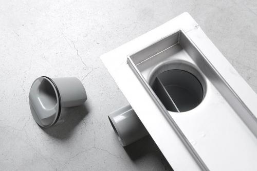 Aqualine VENTO nerezový sprchový kanálek s roštem, 760x140x92 mm 2708-80