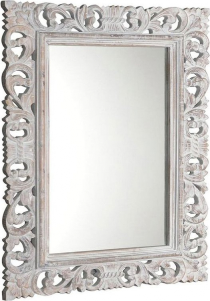 Sapho SCULE zrcadlo v rámu, 70x100cm, bílá IN171