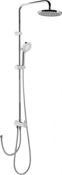 Sapho Sprchový sloup k napojení na baterii, pevná a ruční sprcha, kulatý, chrom 1202-13