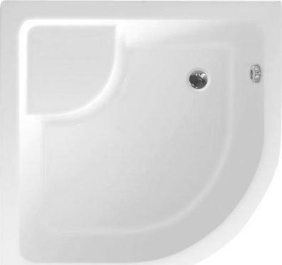 Aqualine Sprchová vanička akrylátová, čtvrtkruh 80x80x28cm včetně nožiček, R550 C83