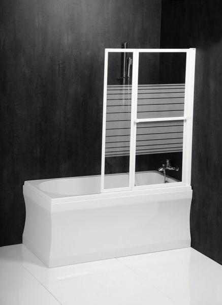 Polysan VENUS 2 pneumatická vanová zástěna 1060 mm, bílý rám, potištěné sklo 36127