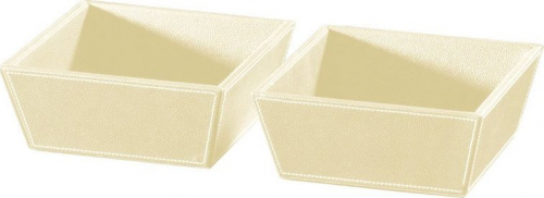 Sapho ECO PELLE odkládací misky 2ks 19, 6x8x19, 6cm, krémová 2605CR