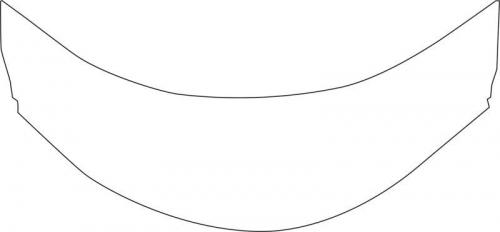Aqualine Panel čelní k hluboké vaničce 80x80cm, výška 37, 5cm, bílá B83