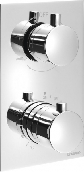 Sapho KIMURA podomítková sprchová termostatická baterie, 2 výstupy, chrom KU385