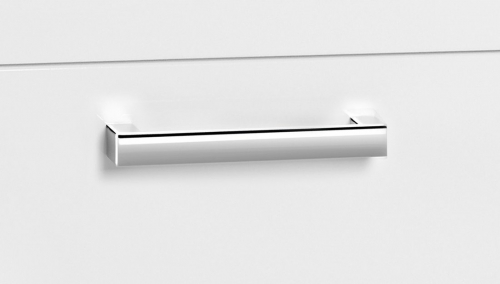 Aqualine POLY umyvadlová skříňka 51, 8x74, 6x44 cm, 2xzásuvka, bílá PL055