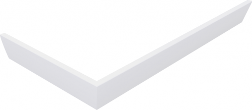 Polysan KARIA 100x90 rohový panel, výška 11 cm, pravý 51312R