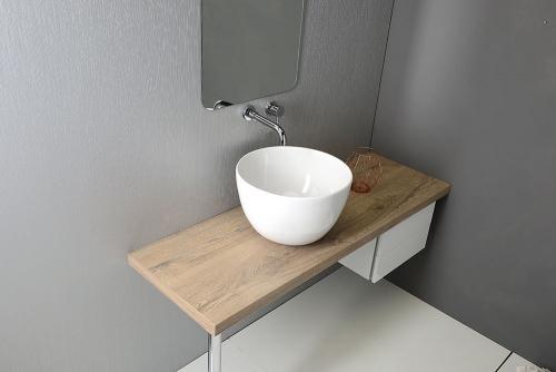 Sapho DOME keramické umyvadlo 44, 5x27x44, 5 cm, na desku, bez přepadu W030701