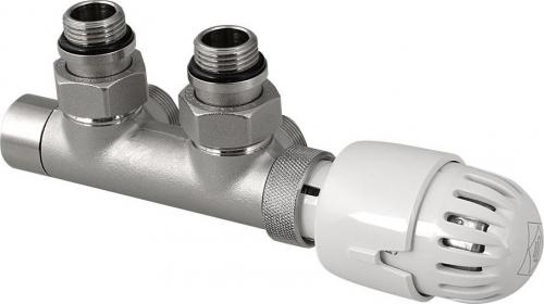 Aqualine TOP 50 připojovací sada termostatická pro středové připojení 50mm, nikl/bílá CP9710