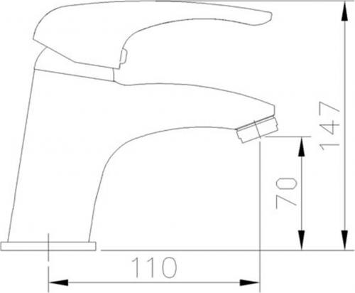 Aqualine KASIOPEA stojánková umyvadlová baterie bez výpusti, chrom 1107-02