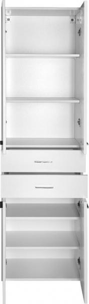 Aqualine ZOJA/KERAMIA FRESH skříňka vysoká se zásuvkami 50x184x29cm, bílá 51291