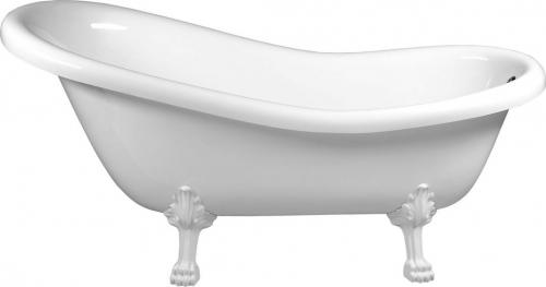 Polysan RETRO volně stojící vana 169x75x72cm, nohy bílé, bílá 42112
