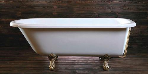 Polysan FOXTROT volně stojící vana 170x75x64cm, nohy bronz, bílá 68132