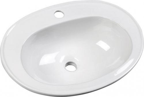 Aqualine SARA keramické umyvadlo 54x41 cm, zápustné FS1630