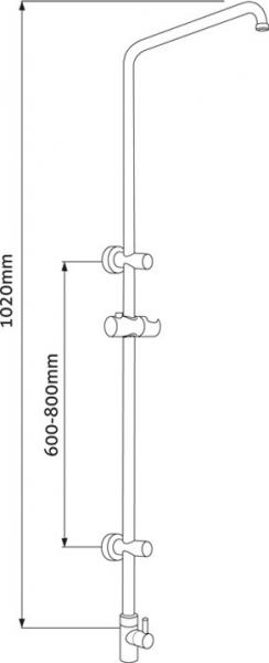 Mereo Sprchová souprava Sonáta bez příslušenství CB60101S
