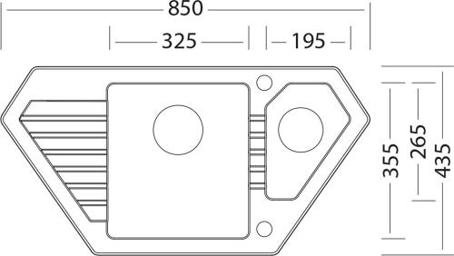 Granitový dřez Sinks BRAVO 850.1 Granblack SIGBR850435130