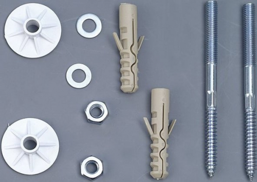 Aqualine UAK12 komplet pro uchycení umyvadel, šroub 8x120 40027