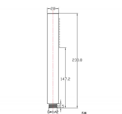 Sapho Ruční sprcha, hranatá, 220mm, ABS/chrom F28