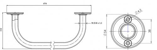 Aqualine Sušák pevný 60cm, bílá 8011