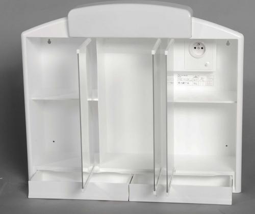 Aqualine RANO galerka 59x51x16cm, 2xE14, 7-11W, bílá plast 541302