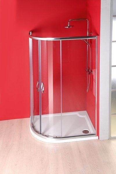 Gelco RIVA sprchová vanička z litého mramoru, čtvrtkruh 120x90cm, pravá (GR1290R) GR12090R