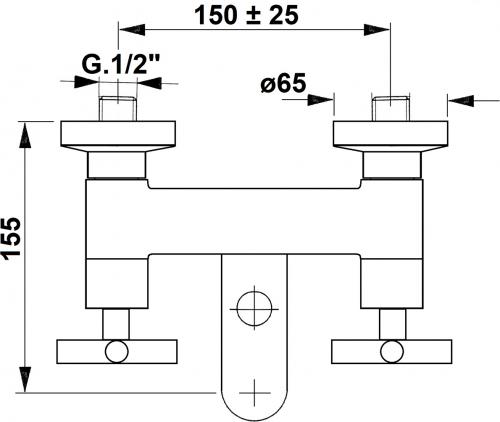 Reitano Rubinetteria AXIA nástěnná vanová baterie, chrom 581