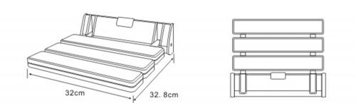 Aqualine Sklopné sedátko do sprchového koutu, 32x33cm, bílá AE357